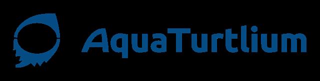 AquaTurtliumのロゴ 左右方向組み合わせ
