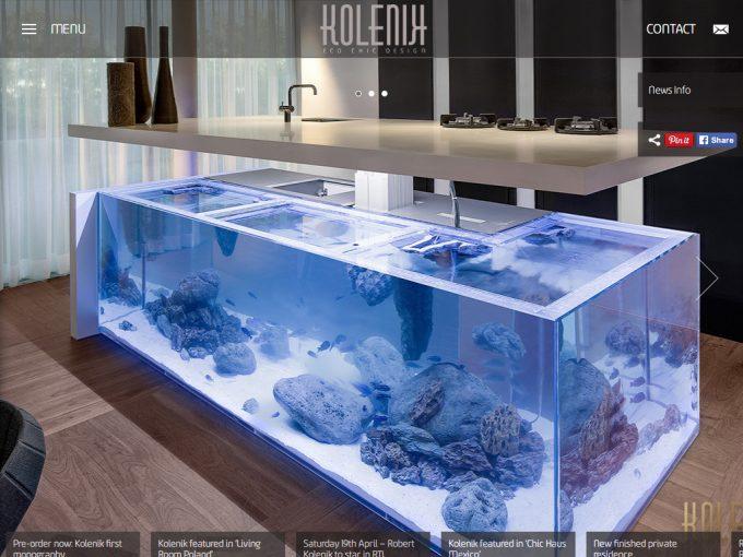 水槽と一体化したキッチン 'Ocean' Keuken