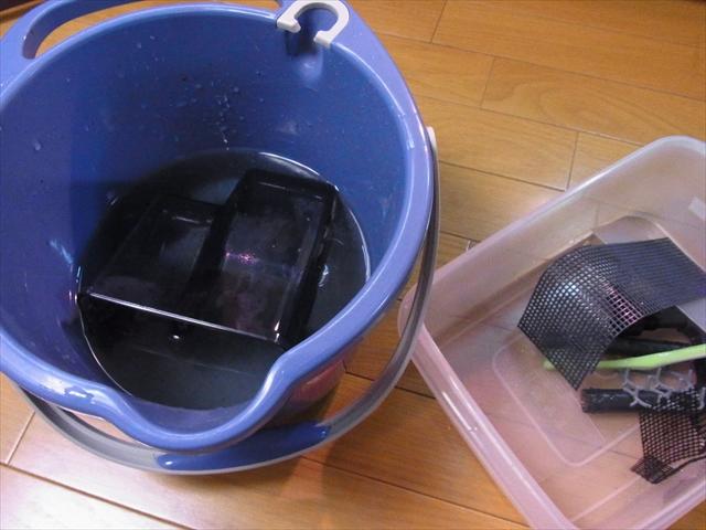 外掛け式フィルター洗浄