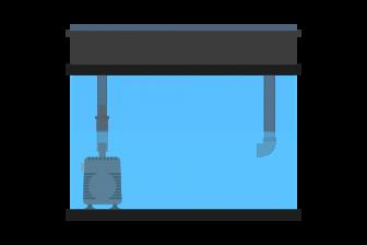 上部フィルターを低水位で使用する方法-亀飼育やアクアテラリウムに!